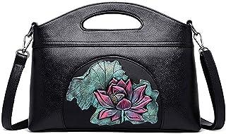 Shoulder Bag Hobos & Shoulder Bags Totes Female Handbags Casual Women's Bags Seashells Women's Shoulder Messenger Bag Handbag Clutch (Color : Lotus)