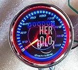 Motocicleta Clásico LED dual cuentakilómetros Speed Speedo Meter Medidor 60mm