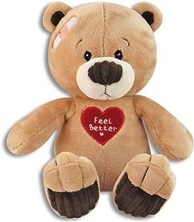 Soft & Cuddly 10 Inch Feel Better Plush Teddy Bear - Get Well Soon - Cheer Up - Feel Better Soon Stuffed Animal