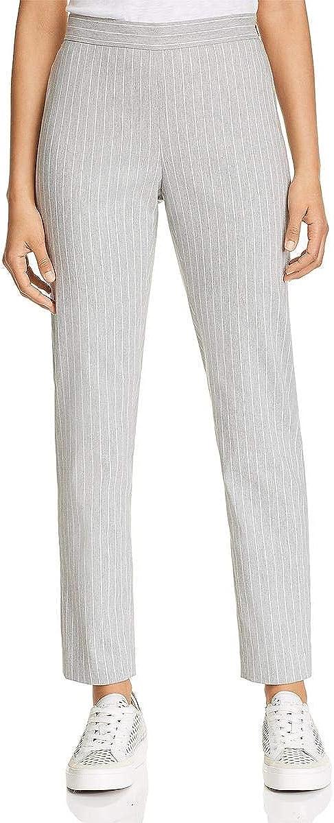 Donna Karan Womens Striped Wear to Work Pants Gray 16