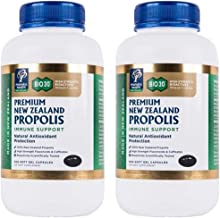 Manuka Health Bio30 Propolis 500mg 500 Capsules 100% Pure New Zealand Bee Propolis Immune System Support & Antioxidant Protection (2 Bottle)