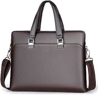 Zyyqt Men's Business Bag, Men's Business Handbag Laptop Bag One-Shoulder Crossbody Men's Leather Bag