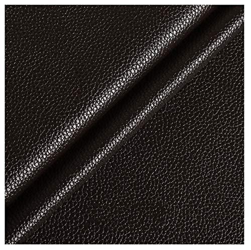 wangk Cuero de imitación Tela Cuero sintético Vinilo Paño de Cuero Material de Tela Ancho 1.38m para Asientos de Coche sofá Multicolor-Café Profundo 32# 1.38x2m