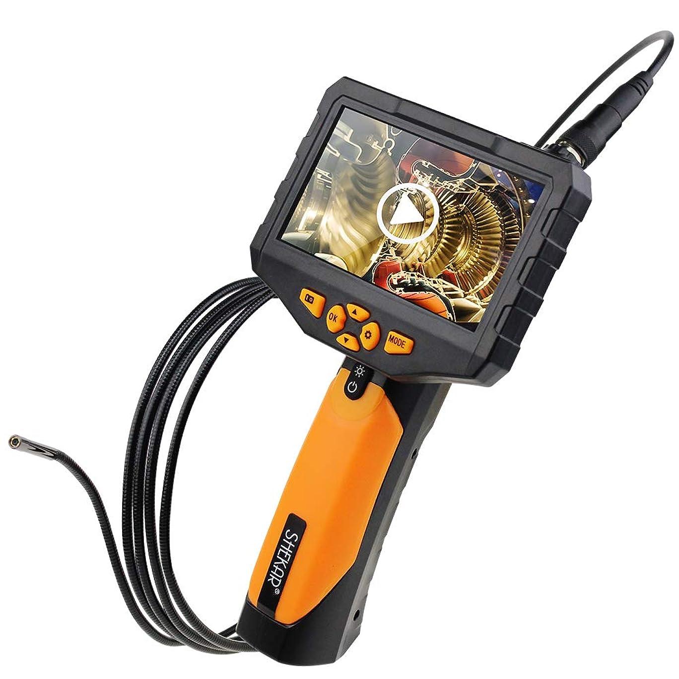 多機能1080P内視鏡 4.3インチHDスクリーン5.5mm極細 録音可能なオーディオ 360画面回転 ファイバースコープ スネーク エンドスコープ 内視鏡 管内カメラ ダイバー用装備品 撮影用等にご利用いただけます 、ミニカメラ 水中カメラ 、IP67防水 日本語説明書と日本語オペレーティングシステムが装備されています 3Mホース LEDライト6灯付き 排水口検査 空調整備 車の整備 スネークカメラ (4.3インチ) (4.3インチ)