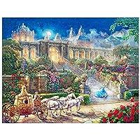 城、大人の子供のための番号キットによるペイント 家の装飾のための DIY キャンバス絵画- 50x60cm フレームレス