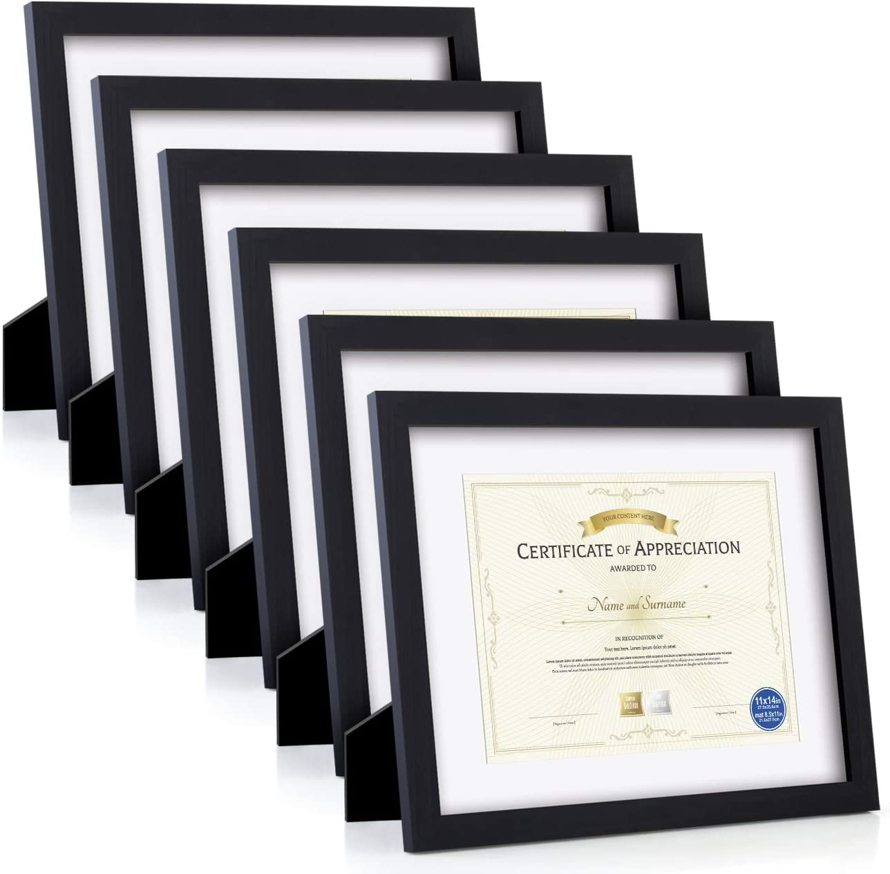 Certificate Frames Document Frame 6PK Made Wood Solid of Glas HD 定価の67%OFF 直営ストア