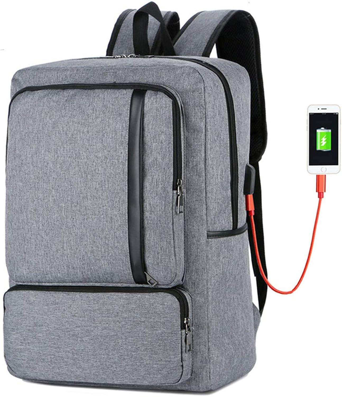 Laptop Rucksack, Wasserdichte Herren Damen Schulrucksack mit USB-Anschluss, Casual Business Daypack für College Schule Reisen Arbeit Camping B07MDHSM8T   | Vogue