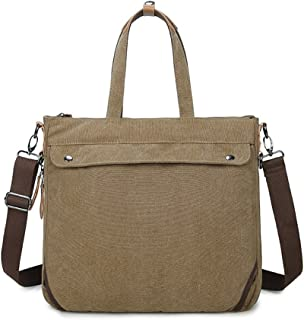 Men's Accessories Office Business Man Canvas Multifunction Briefcase Casual Backpack Handbag Khaki Outdoor Recreation