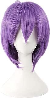 De personajes de manga japonés a corto y Etruke líneas rectas y de color púrpura Diseño de noche de brujas de ratón de las pelucas