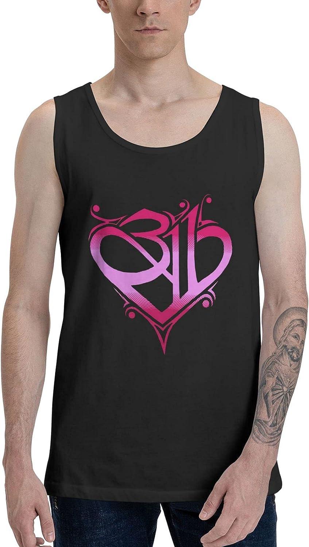 AlexBCody 311 Band Tank Top Man's Summer Sleeveless Tops Cool Vest