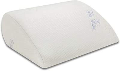 """The White Willow Orthopedic Memory Foam Soft Inclined Bed Wedge Leg Rest Pillow for Acid Reflux, Pregnancy, Anti Snoring, Reading, Back Pain Relief, Knee and Back Support- (17"""" x 14.8"""" x 7"""") White"""