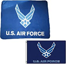 """Wholesale Combo USAF Air Force Wings 50/""""x60/"""" Fleece /& 3/'x5/' Polyester Flag"""