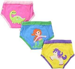ZOOCCHINI 100% Organic Cotton Potty Training Pant Sets – 3-Piece Set, Extra Absorbent, Girls and Boys Underwear for Toddlers