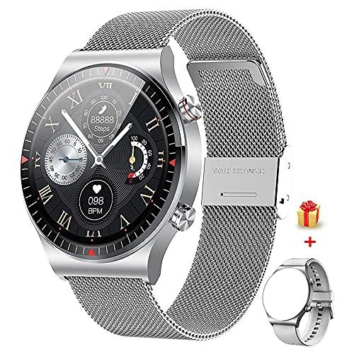 GaWear Relojes Inteligente Hombre,Smartwatch con Llamadas Pulsómetro Presión Arterial, Monito de Sueño,Podómetro Pulsera Reloj Impermeable para Android iOS y Xiaomi Huawei iPhone (Plata)