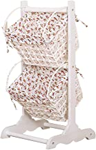 YAYADU Storage Basket Hanging Finishing Box Tow-tier Store Magazine Newspaper Toy Clothes Package Livingroom Bedroom Kitch...