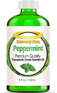 Peppermint Essential Oil (Huge 4 OZ - Bulk Size) - 100% Pure & Natural Sweet Peppermint Aroma - Therapeutic Grade - Pepper...
