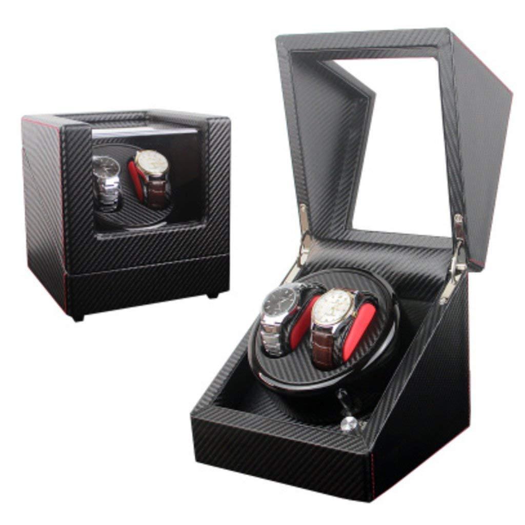 SuRose Cuadro de enrollador de Reloj automático Cuadro de enrollador de Reloj Caja de Reloj mecánico automático Completo Caja giratoria del Motor Caja de Cuerdas Superior Mesa de Batidos.: Amazon.es: Deportes y