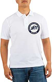 US Naval Academy Wrestling - Golf Shirt, Pique Knit Golf Polo White