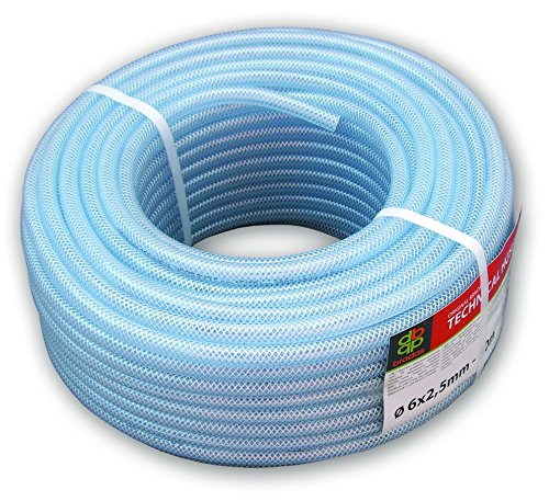 clear pvc braided hose,food grade/oil/water/fuel reinforced pipe,tube 12.5mm 1/2' (5m)