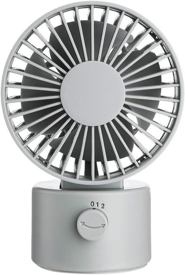 XIAOF-FEN Moving Head Table Fan USB Shaking Head Desktop Fan Mini 2 Gear Wind Electric Fan USB Fan Color : White