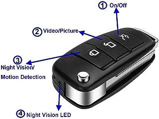 llave de coche espia 32G 1920x1080P HD de Original Factory con Buena batería s820 espía cámara oculta llave de coche cámara + Tarjeta 32G TF + Lector de Tarjetas + bolígrafo metálico de 9 cm