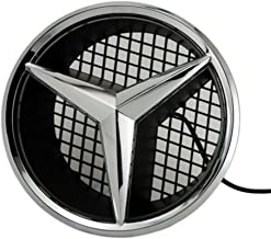 Cszlove Car Front Grilled Star Emblem LED Illuminated Logo Center Badge Lamp Light for Mercedes Benz 2008-2013 C-Class W204, 2006-2012 GLK-Class W204, 2005-2010 B-Class W245 - White Light