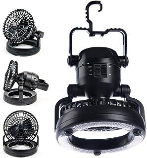 輝点 キャンプランタン LED ランタン ファン 付き ライト 電池 式 アウトドア 防災 避難 非常 停電 用 ランプ 扇風機 電灯 …
