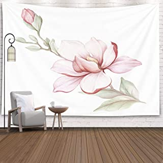 Jacrane Tapestry Wall Hanging with 50x60 Inches Image Blooming Magnolia Watercolor Art Tapestries for Bedroom Living Room Home Decor Wall Hanging Tapestries