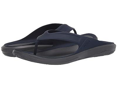 Crocs Swiftwater Wave Flip (Navy/Slate Grey) Men