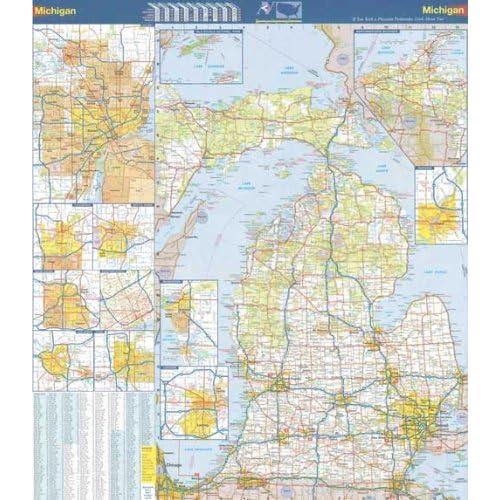 Map of Michigan: Amazon.com Map For Michigan on rental agreement for michigan, weather for michigan, attractions for michigan, postal code for michigan, zip codes for michigan, climate for michigan, flag for michigan, travel brochure for michigan, time zone for michigan,