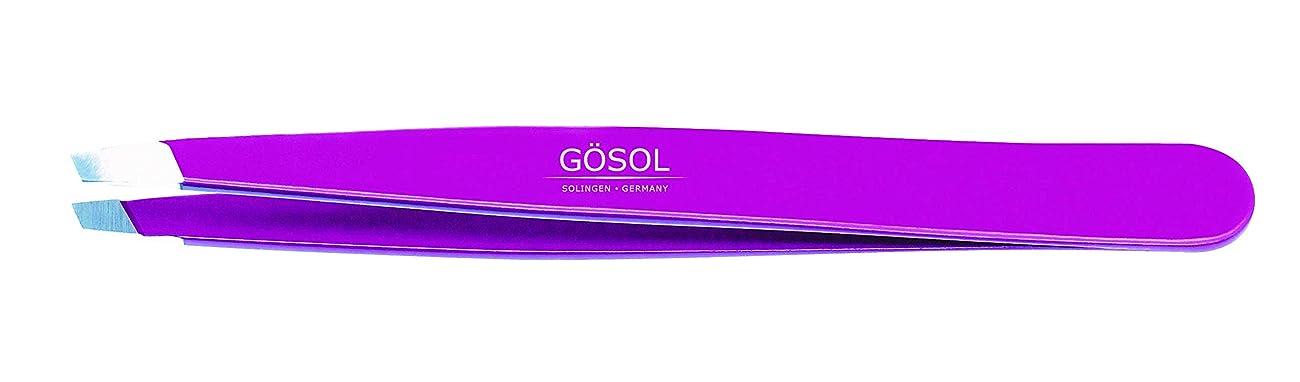 団結パテ群がるゲーゾル(独)GOSOL 高級ツイザー(先斜) ステンレス 95mm ブラック