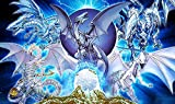 RFG REMOVE FROM GAME Blue Eyes Dragon Yugioh Playmat TCG Gaming Mat 24 x 14 Inch