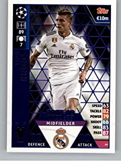 2018-19 Topps UEFA Champions League Match Attax #49 Toni Kroos 17-18 Real Madrid Winners Official Futbol Soccer Card