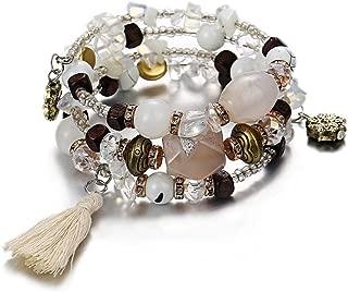 4Pcs//set Charme bohème multi-couche Pierre Naturelle Bracelet De Perles Bracelet Bijoux