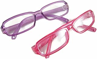 Doll Clothes Sew Beautiful 2 Pair Eyeglasses 1 Purple & 1 Pink for American Girl Doll