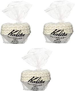 [3 Sets!] Kalita: Wave Series Wave Filter 155 [1-2 persons] White , 100 sheets # 22201 (Japan Import)