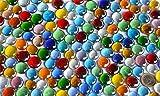 500g Glasnuggets transp. 15-21mm bunt Deko Mosaiksteine ca 120St - 4