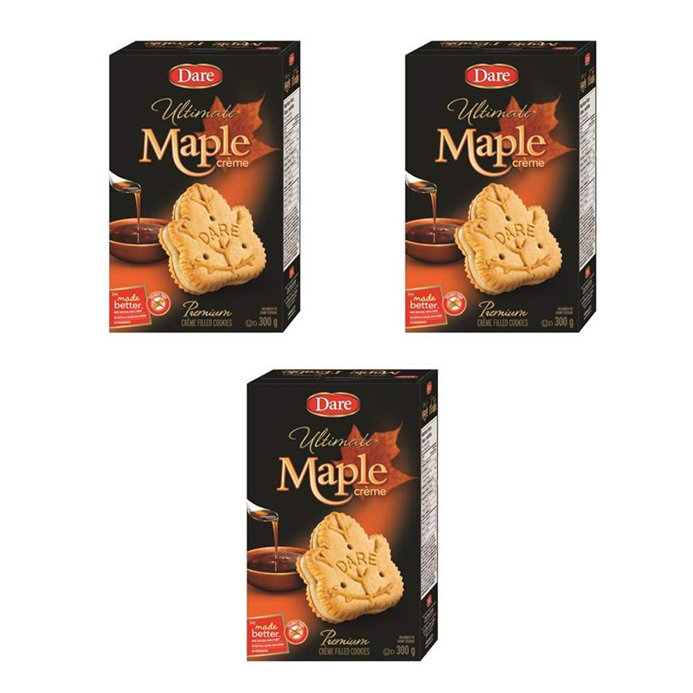 Dare Ultimate Maple Creme Cookies 300g New product!! Financial sales sale {Imported 3-Pack 10.6oz