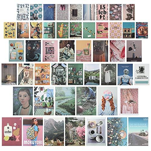 96 Stks Esthetische Foto voor Muur Collage, Retro Muur Collage Kit Esthetische Kamer Decor voor Slaapkamer voor Tiener…