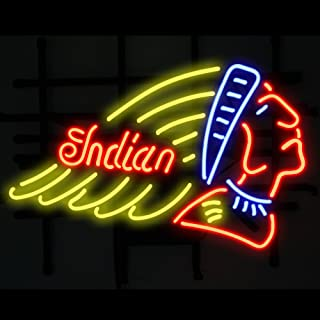 India Motorcycle Beer Bar Pub Store Party Recreation Room Wall Windows Display Neon Signs 19x15
