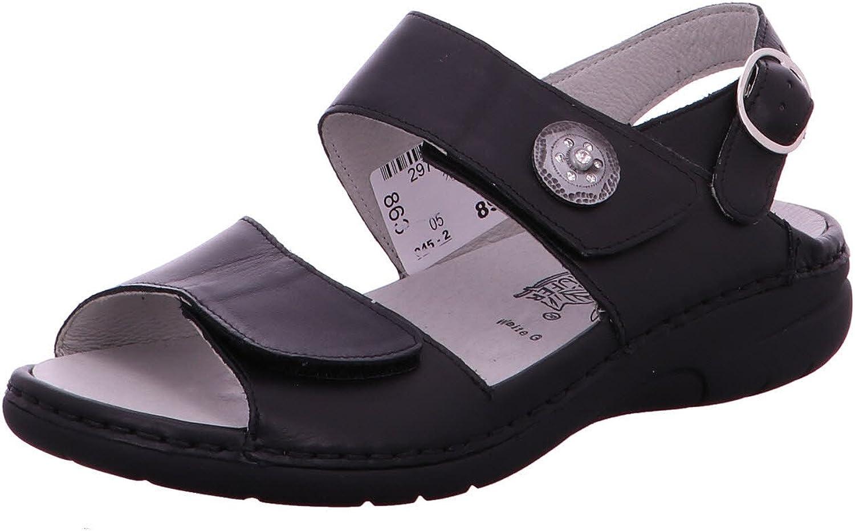 Waldläufer Damen Damen Damen Sandaletten Komfort Sandalette Memphis 204001 186 001 schwarz 126136  01b374