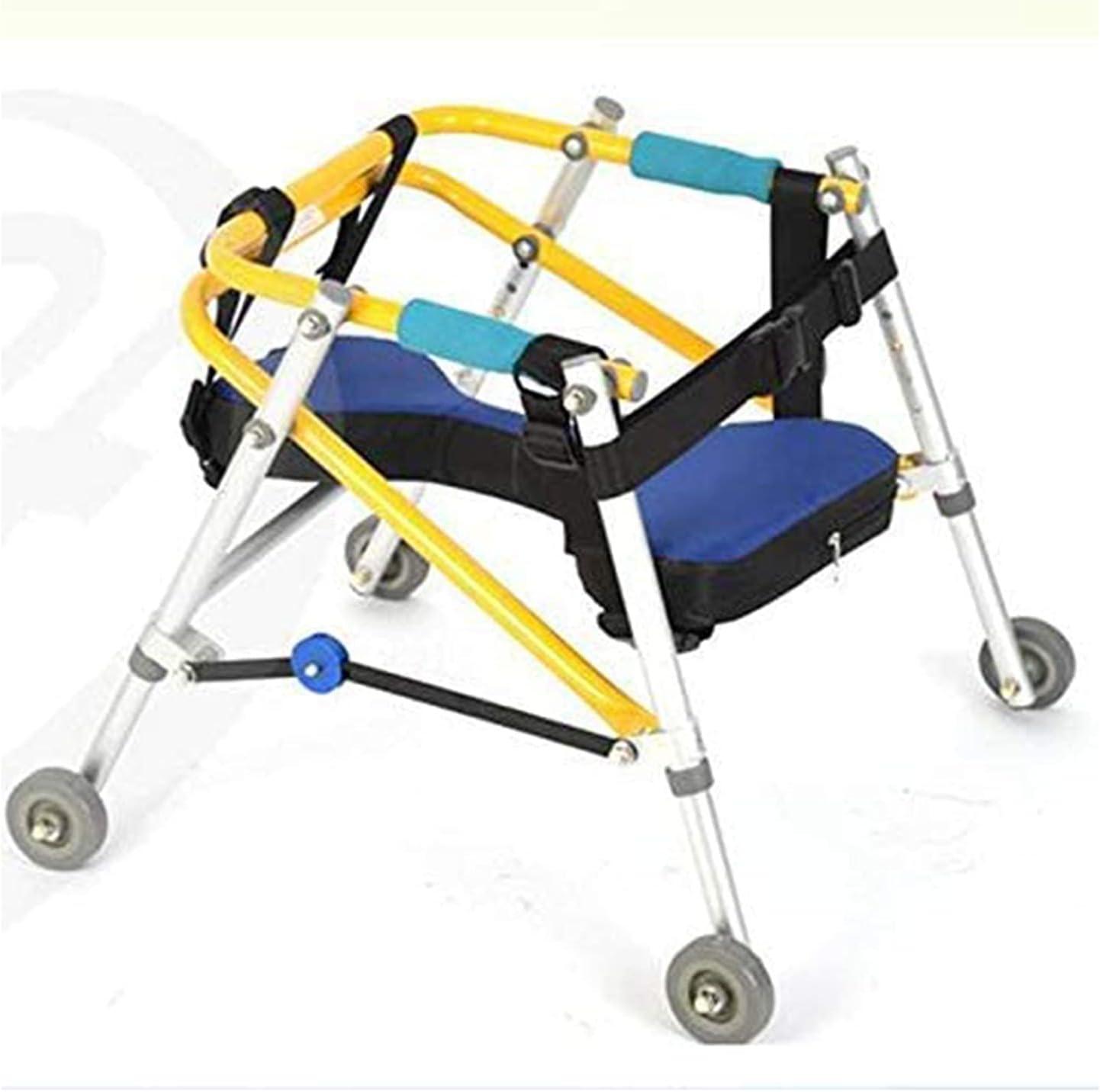 Walker para niños pediátricos con Ruedas, Andador para niños con ayudas para la rehabilitación de Miembros Inferiores, Soporte para Entrenamiento, Andador para parálisis Cerebral