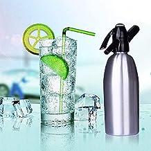 ILH Soda Siphon Maker Soda Siphon pour l'ajout Individuel d'acide carbonique dans l'eau du Robinet, utilise Un Chargeur de...