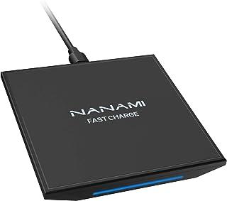 「2021年改善版」NANAMI Qi急速 ワイヤレス充電器 15W高出力 USB Type-C 置くだけ充電器 iPhone 13/13 Pro/13 Pro Max/13 Mini/12/12 Pro/12 Mini/SE (第2世代) /...