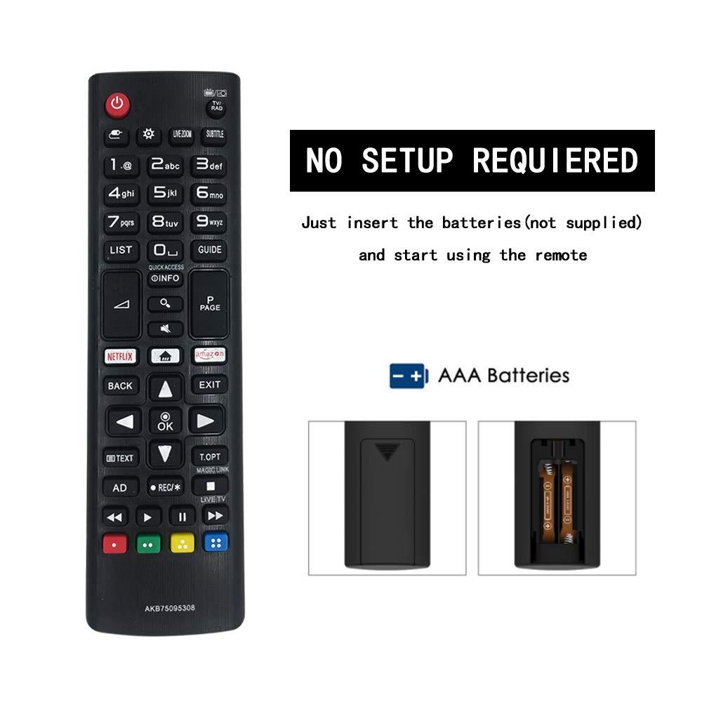 Control Remoto Universal AKB75095308 para LG TV 43UJ6309 49UJ6309 ...