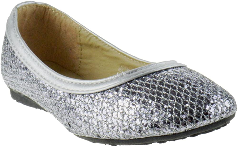 Pinky Glitter 02 Special sale item Little Girls Ballet Ballerina Clearance SALE Limited time Gold Flats