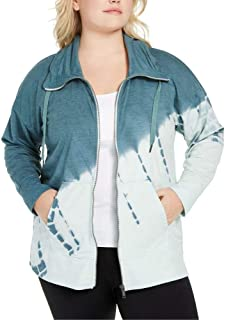 Ideology Women's Plus Size Printed Zip-Front Jacket Perfect Mint Size 3X