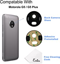 EMiEN Back Rear Facing Camera Glass Lens Cover Replacement Parts with Adhesive for Motorola Moto G5 Plus XT1680 XT1681 XT1684 XT1685 XT1687 (All Carriers)