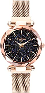 Dyshuai Women Starry Sky Magnetic Mesh Band Watch Easy Reader Wrist Watch