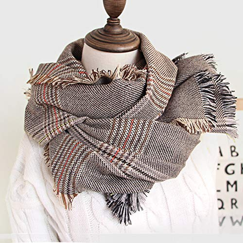 Waniii Classic Britse Plaid sjaal vrouwelijke Houndstooth herfst en winter wild dikke sjaal sjaal